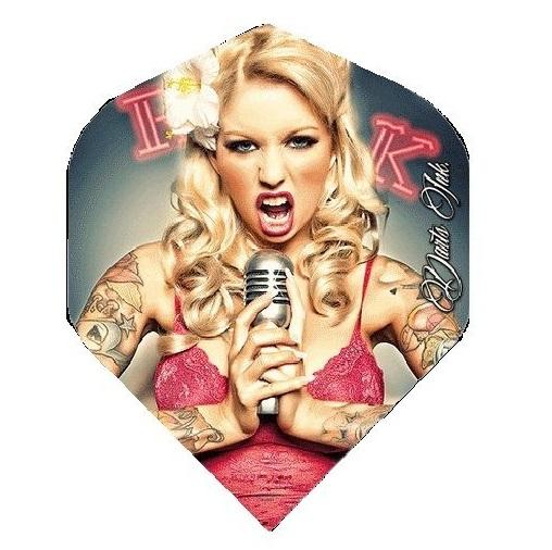 Darts Ink Microphone Girl Dart Flights