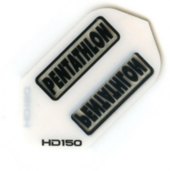 Pentathlon HD150 White Slim Dart Flights Extra Thick
