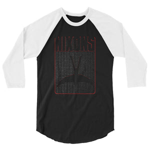 The Nixons Alt Rock Band Oklahoma Bird Logo 3/4 Sleeve Raglan Official Shirt