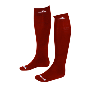 Burgundy/White Pirma socks