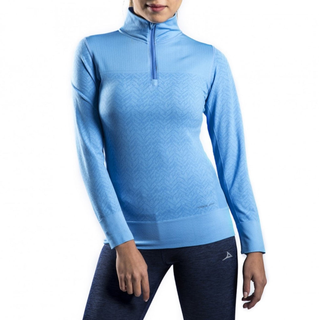 59164 Women's Half Zip Training Jacket - Blue