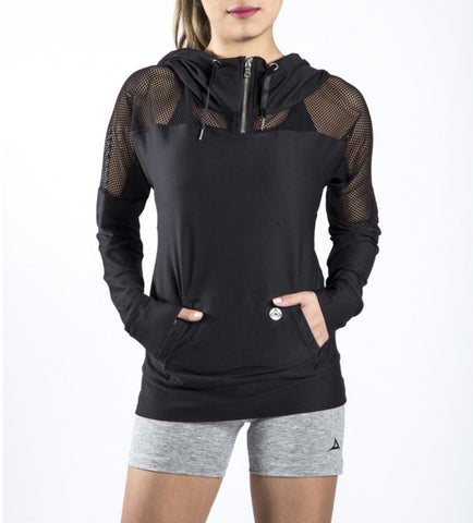 59167 Women's Active Hooded Jacket - Black