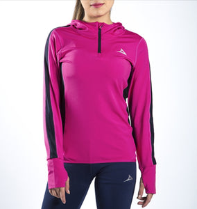 59169 Women's Half Zip Jacket - Pink
