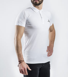 78164 Men's Polo Shirt - White/Oxford
