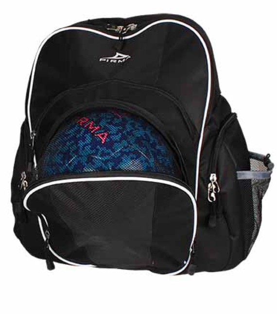 9189 Pirma Soccer Backpack - Black/White
