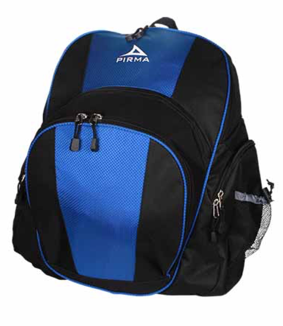 9189 Pirma Soccer Backpack - Black/Blue