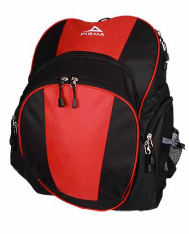 9189 Pirma Soccer Backpack - Black/Red