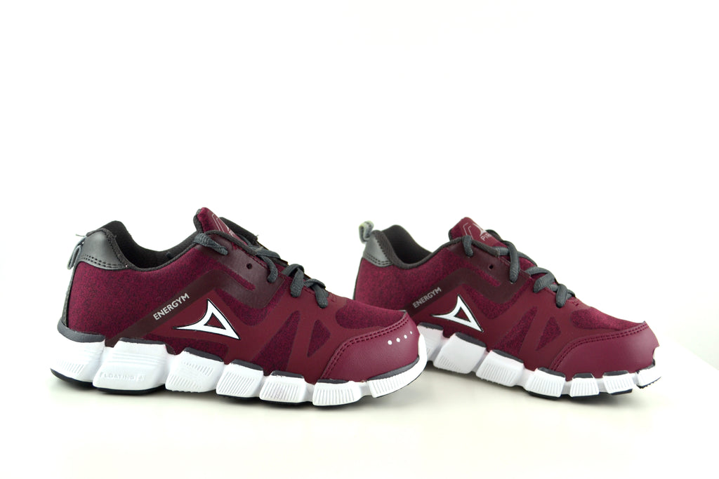 0201 Burgundy/Oxford Girls Shoes