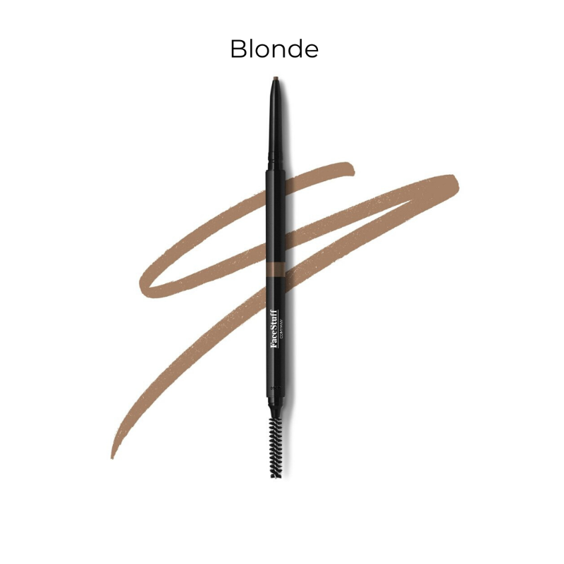 Cruelty free brow defining pencil in blonde with brow brush | FaceStuff Co