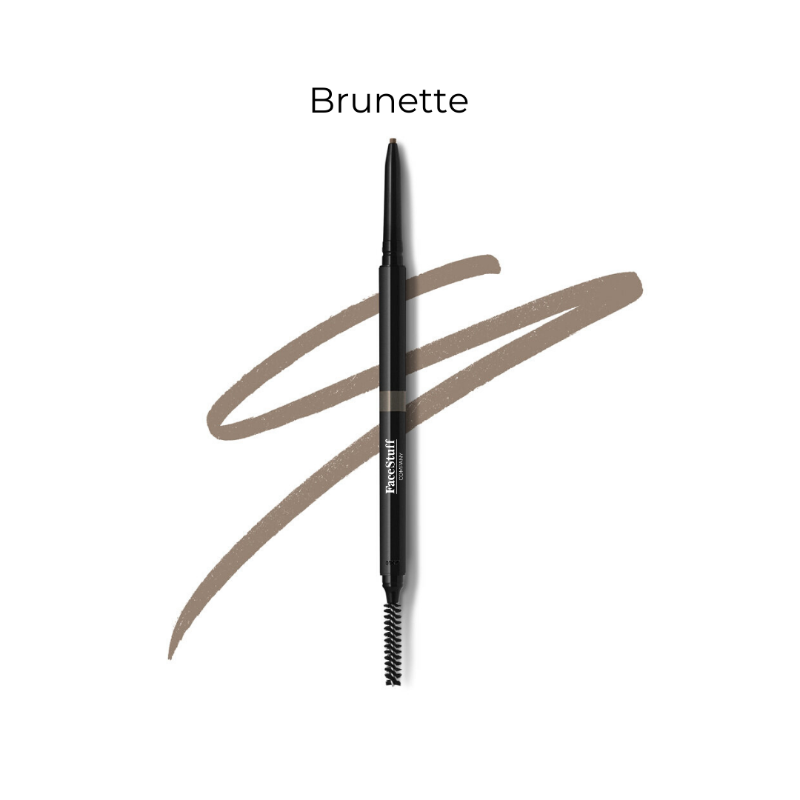 Cruelty free brow defining pencil in brunette with brow brush | FaceStuff Co