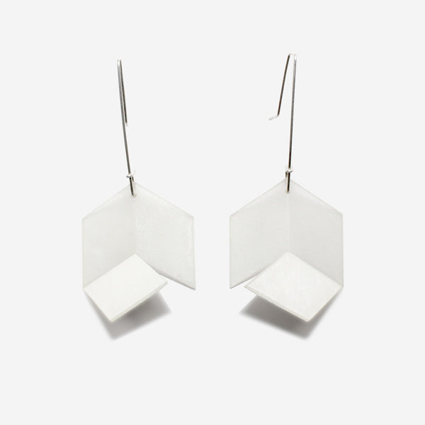 Infinite Earrings | Translucent with White Accent