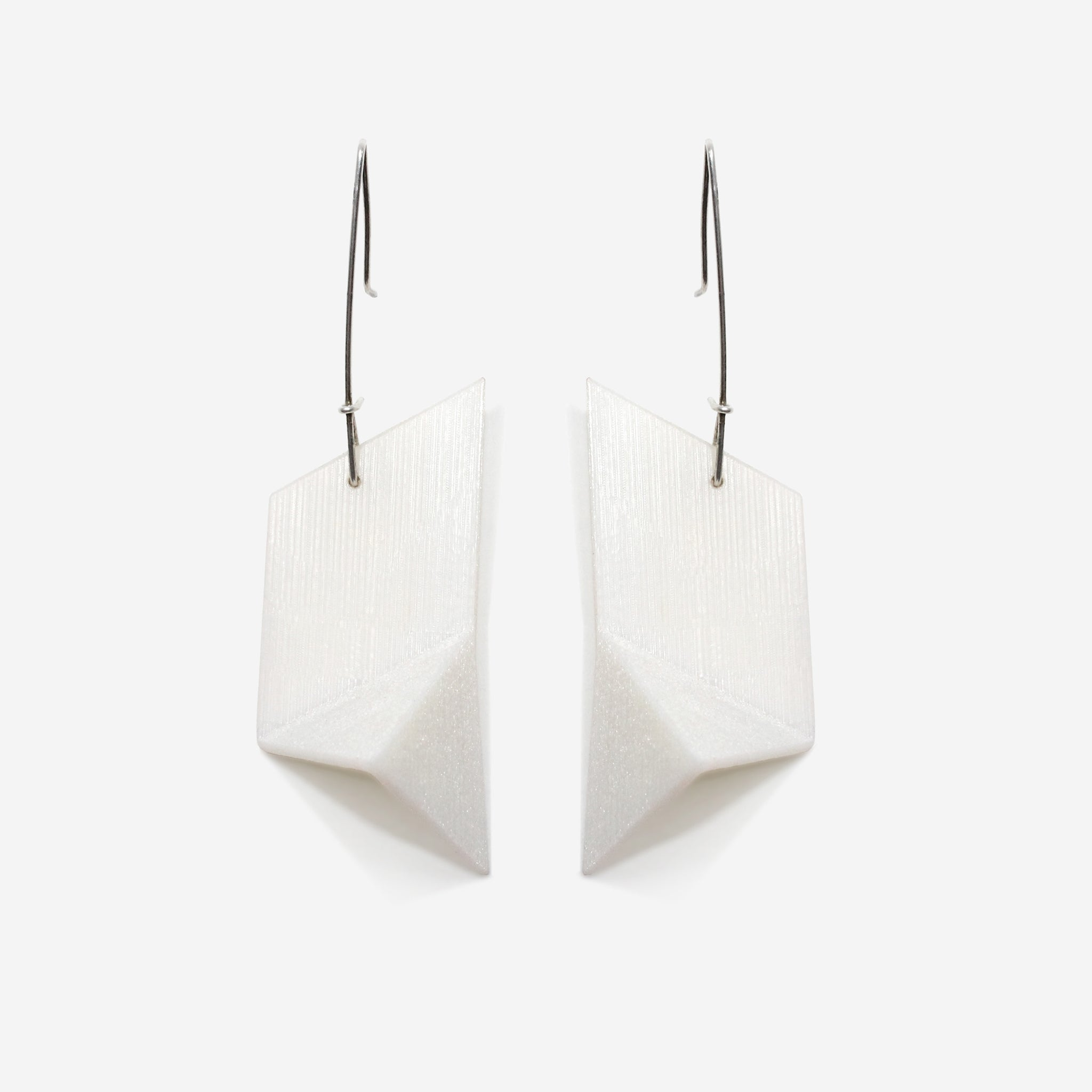 Racer Earrings | White Noise