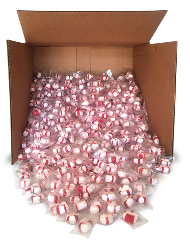 Red Bird Peppermint Candy Puffs 1000 Count Bulk - Clear Wrap