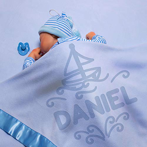 Personalized Baby Blankets w/Name - Large Baby Receiving Blanket - 36x36 in | Satin Trim, Fleece | Pink - Baby Girl Gifts, Baby Shower Gift, Baby Stuff, Welcome Baby Gifts for Newborns |Giraffe