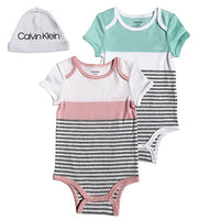 Calvin Klein Baby 2 Pack Bodysuit Onesie with Hat