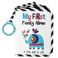 Urban Kiddy™ Baby's My First Family Album | Soft Photo Cloth Book Gift Set for Newborn Toddler & Kids (Elephant)