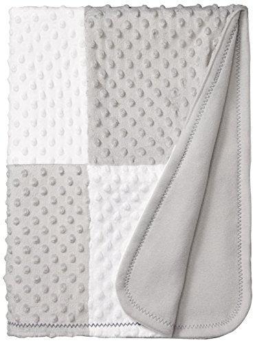 Spasilk Minky Raised Dot Baby Blanket with Satin Trim — Double Layer Blanker for Baby Girls, Baby Boys — Gifts for Newborns — Receiving Blanket