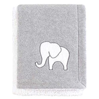 Hudson Baby Mink Blanket with Sherpa Backing, Royal Safari, One Size