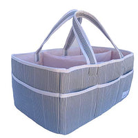 Lily Miles Baby Diaper Caddy - Large Organizer Tote Bag for Infant Boy or Girl - Baby Shower Gift - Nursery Must Haves - Registry Favorites - Collapsible Newborn Caddie Car Travel