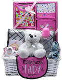 Nikki's New Arrival Baby Boy Gift Basket (Blue)