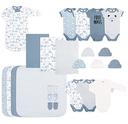 The Peanutshell Newborn Essentials Layette Gift Set for Baby Boys or Girls, 23 Piece