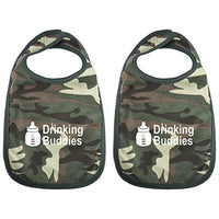Milk Drinking Buddies Twin Set Unisex Newborn Baby Soft 100% Cotton Bibs