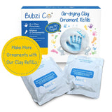 Bubzi Co Baby Footprint Kit & Handprint Ornament for Baby Girl Gifts & Baby Boy Gifts, Unique Baby Shower Gifts, Personalized Baby Gifts for Baby Registry, Keepsake Box Nursery Decor