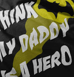 Brisco Brands My Daddy is Bat Cute Fathers Day Comic Hero Baby Romper Bodysuits