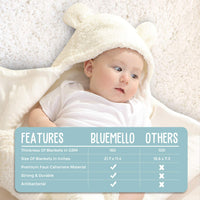 Baby Swaddle Blanket | Ultra-Soft Plush Essential for Infants 0-6 Months | Receiving Swaddling Wrap White | Ideal for Baby Boy Accessories and Newborn Registry | Perfect Baby Girl Shower Gift