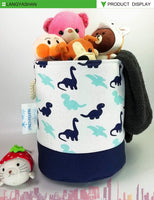 LANGYASHAN Storage Bin,Cotton Collapsible Organizer Basket for Laundry Hamper,Toy Bins,Gift Baskets, Bedroom, Clothes,Baby Nursery(Dinosaur)