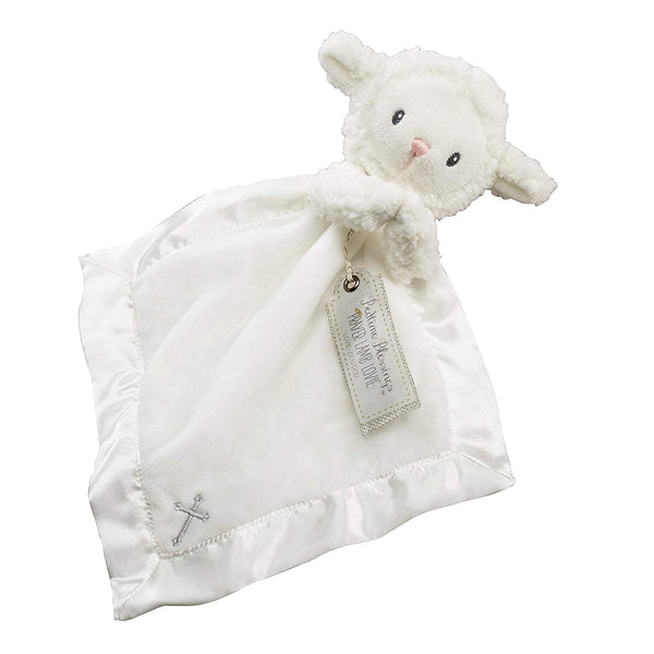 Baby Aspen Bedtime Blessings Lamb Lovie Blanket, Rattle, Newborn Baby Toy, White