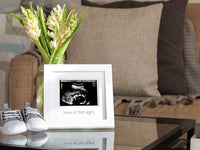 Pearhead Love at First Sight Sonogram Keepsake Frame, Baby Ultrasound Frame, Perfect Gift for Expecting Parents, White