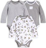 Burt's Bees Baby - Unisex Baby Bodysuits, 3-Pack Long & Short-Sleeve One-Pieces, 100% Organic Cotton
