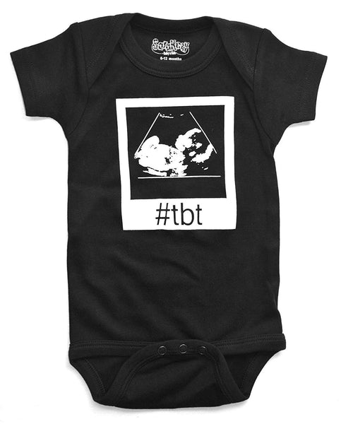 Sara Kety Funny Baby Romper Bodysuit #TBT Throwback Thursday Ultrasound for Newborn Infant Girls and Boys