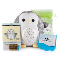 Mommy Paradise Baby Toys White Noise Sound Machine & Cry Sensor - Owl Baby Soother Sleeping & Calming Aid Night Light Star Projector - Portable Lullaby & Shusher, Baby Boy & Baby Girl Shower Gift