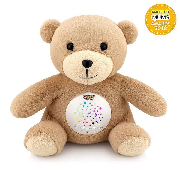 Cozzy Bear Sleep Soother | Baby White Noise & Lullaby Sound Machine | Rotating Colors Star Projector | Cry Sensor | USB Rechargeable Sleeping & Calming Aid | 2019 Best Registry for Baby Shower Gift