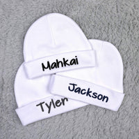 Ava's Miracles Personalized Baby hat for a Baby Girl or Baby boy, Baby Name hat for Newborn Baby, Preemie Baby, Infant
