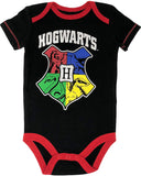 Warner Bros. Harry Potter Hogwarts Baby Boys' Multipack Bodysuits