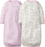 Gerber Baby Girls' 2-Pack Gown