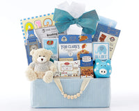 Newborn Baby Gift Basket- The Bundle of Joy Blue New born Baby Gift Congratulations Baby Blue Baby Shower Gift Welcome Home by Wine Country Gift Baskets