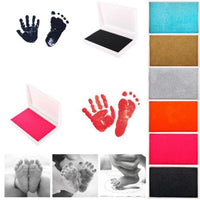 3d Baby handprint Footprint Non-Toxic Newborn hand print Inkpad Watermark Infant Souvenirs Casting Infant Clay Toys baby gift