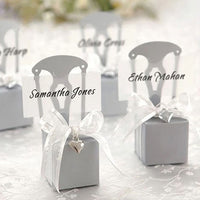 Birthday Guests Favors Event Party Supplies Baby Full Moon Chair Shape Wedding Candy Boxes Gold Silver Gift Bags