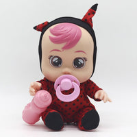Cry Babies Baby Doll Surprise Tears Doll Love Crying Hair Sound Play House Girl Christmas Gift 3D Silicone Inteiro Realista Doll