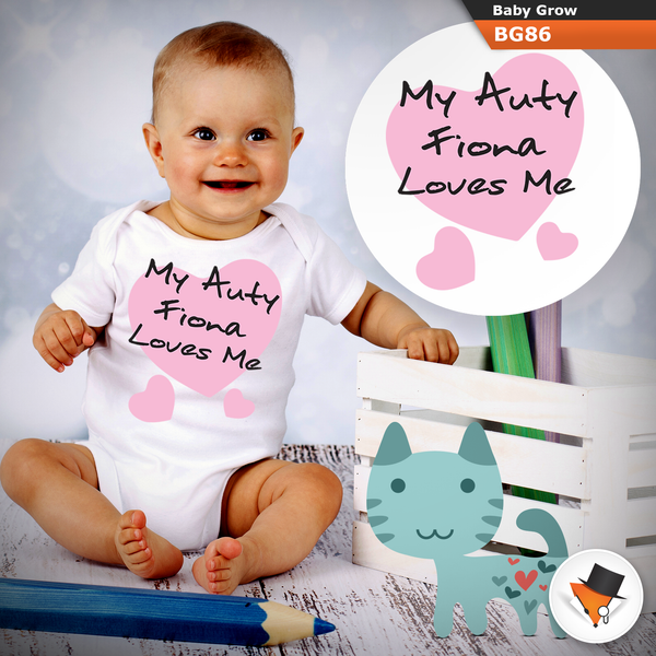0-3 Months Baby Grows Personalised Aunty Aunt Christmas Gifts Presents