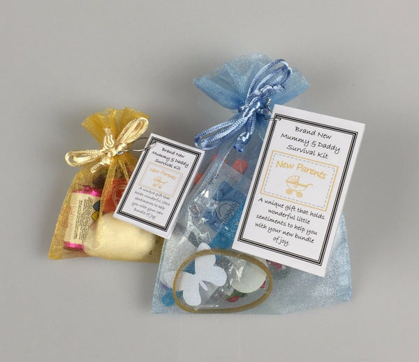 * Brand New Mummy & Daddy Survival Kit Novelty Keepsake New Baby Gift