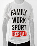 T-shirt Uomo Family Work Sport Repeat