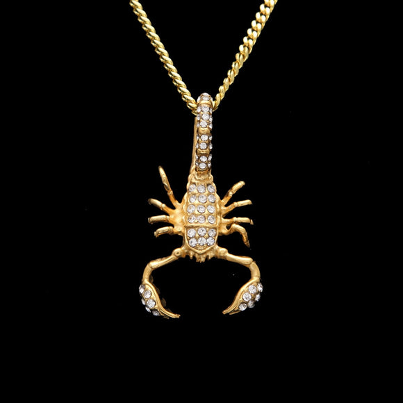 Scorpion Gold Iced Out Cuban Chain