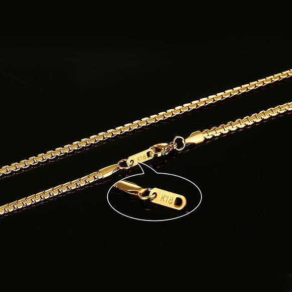 Simple Real Gold/Silver Chain Necklace
