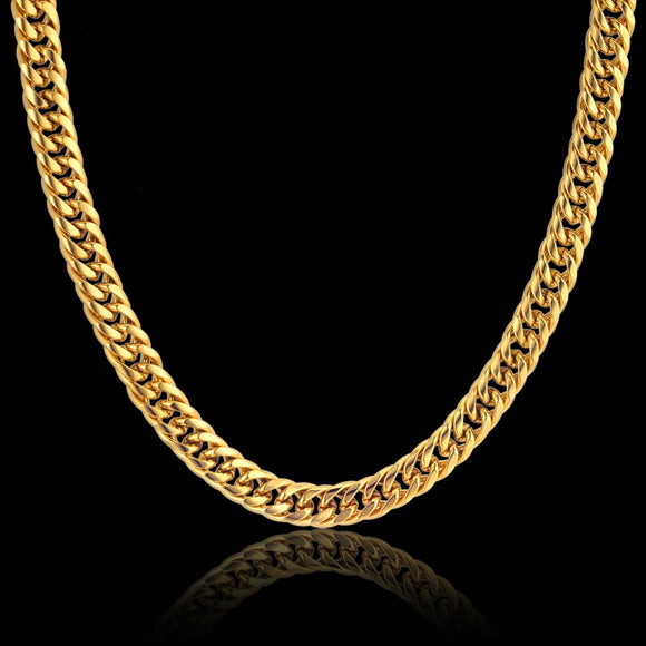 Cuban 24k Gold Plated or Silver Necklace