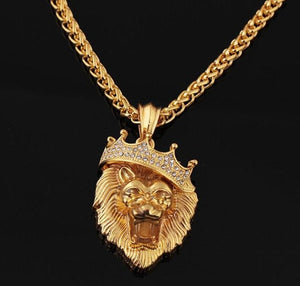 Lion Gold/Silver Iced Out Necklace